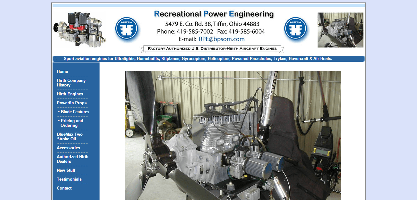 Recreational Power Engineering   Hirth Engines   Aviation Engines   Factory Authorized US Distributor.png