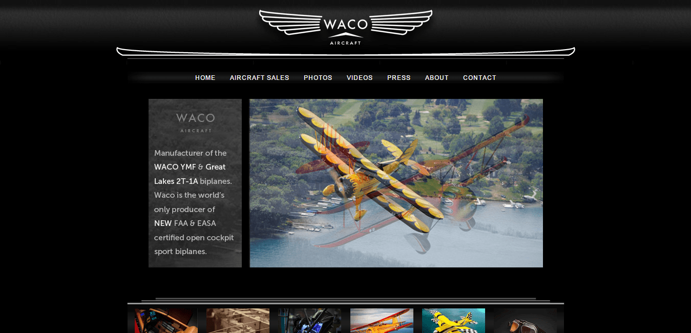 WACO Aircraft Corporation   The world s only producer of NEW FAA   EASA certified open cockpit sport biplanes.png